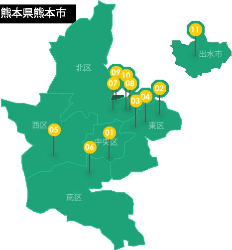 対象分譲地マップ